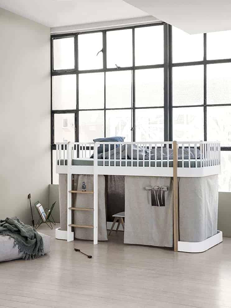 Lit mezzanine compact Wood Mini+