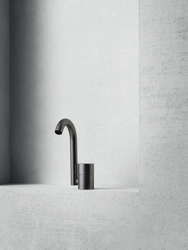 Aboutwater AA 27  washbasin mixer Matt Gun metal  PVD 20181953