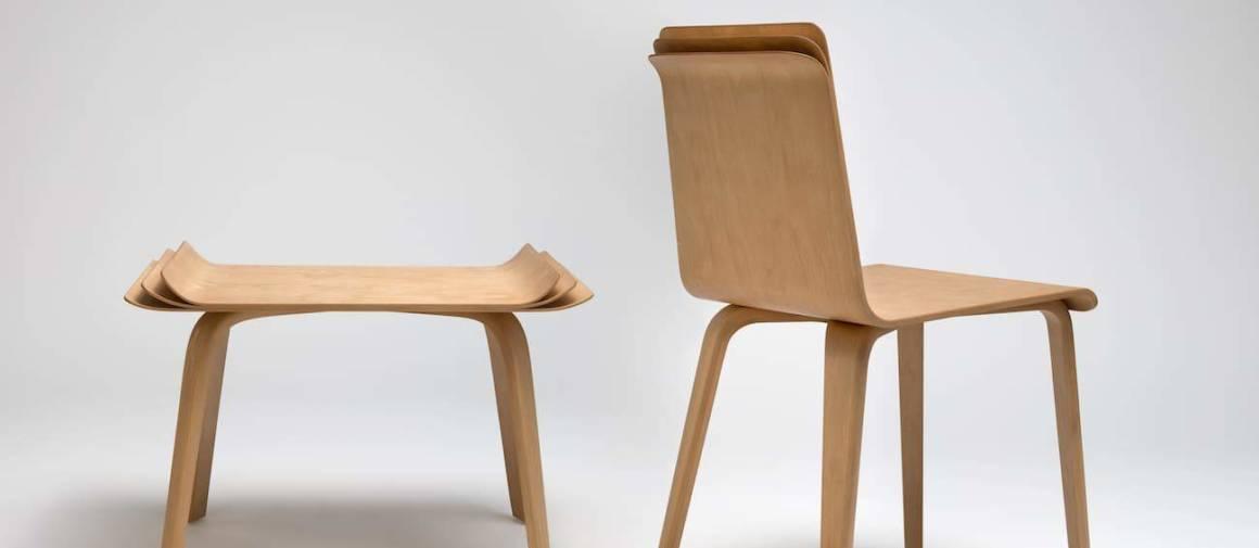 Mobilier - Chaise et tabouret Multipli - 2013. ©Helene Hilaire