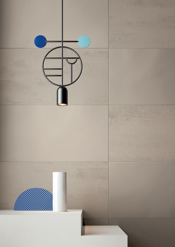 Carreaux Musa+, nouveau coloris Dune. Surfaces semi-lustrées, relief ou glossy. Nombreuses dimensions et mosaïques. ©Fiandre