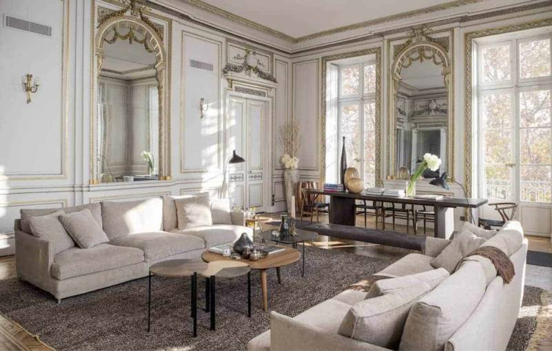 Salon Style Empire - Table longue Saint-Paul.