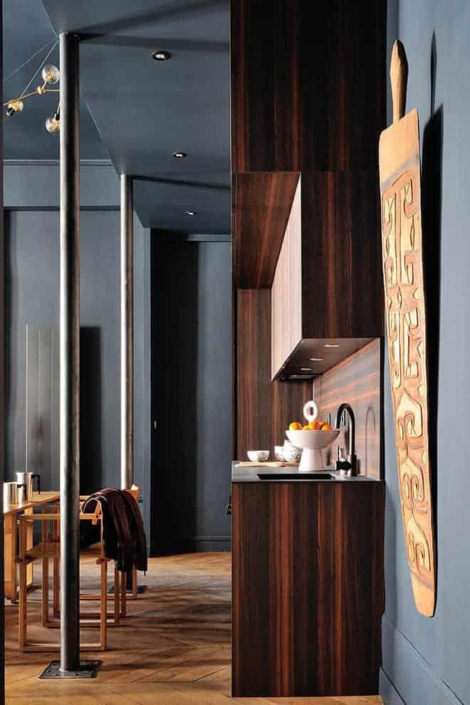 Cuisine dessinée par l'architecte Marie-Anne Chapel et réalisée par la menuiserie ABM.
