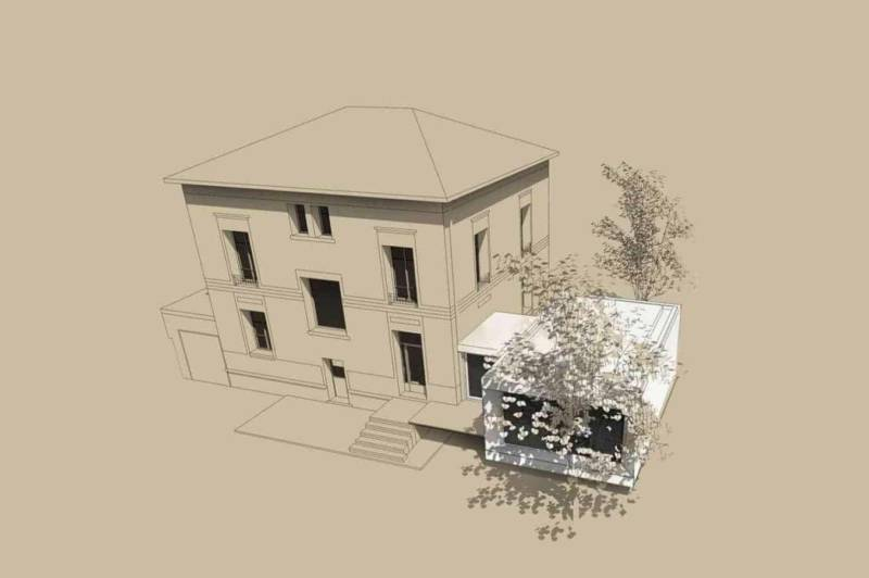 Vue façade ouest Architectes Laurent Mayoud et Nils Degrémont Agence Playtime