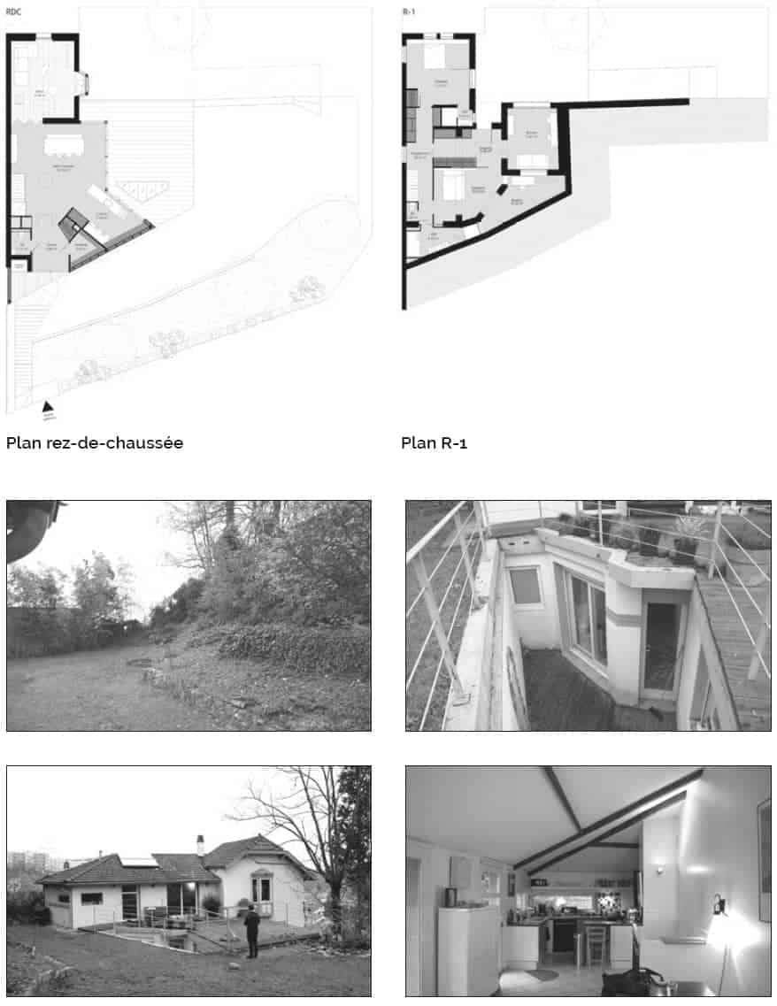 Vues du projet avant travaux, jardin, patio, terrasse et cuisine.