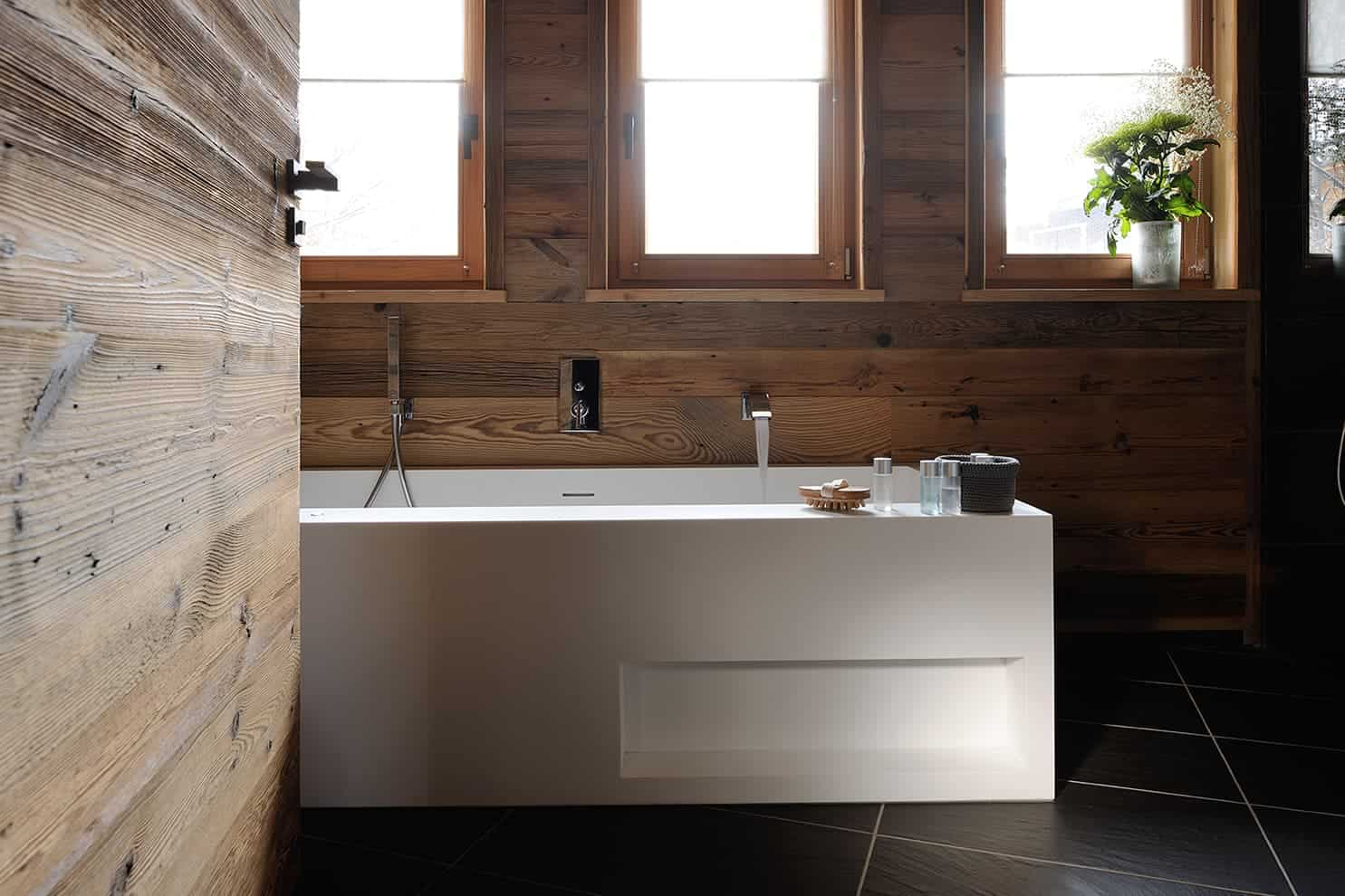 Le chalet de l 39 alpe r ve d 39 hiver domodeco - Crozet salle de bain ...