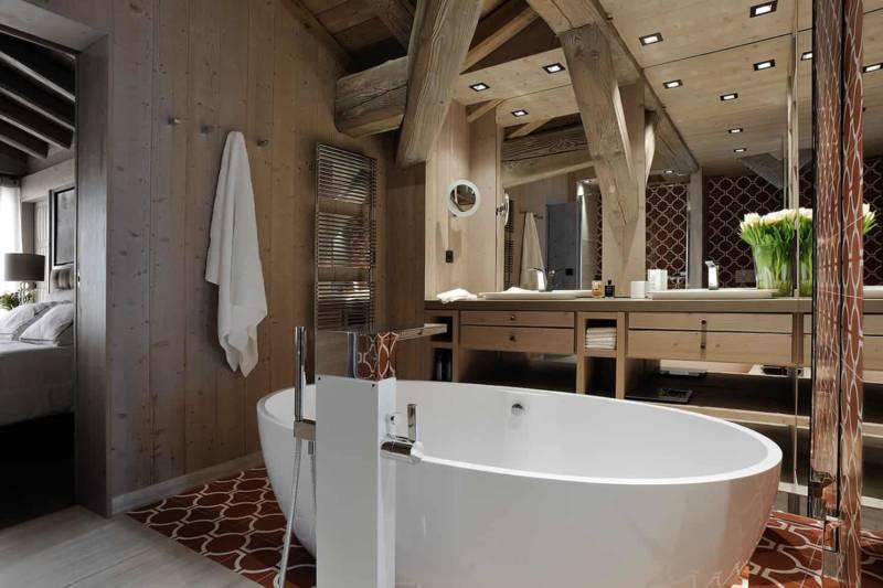 Ensemble de meubles vasques dessinés sur-mesure.