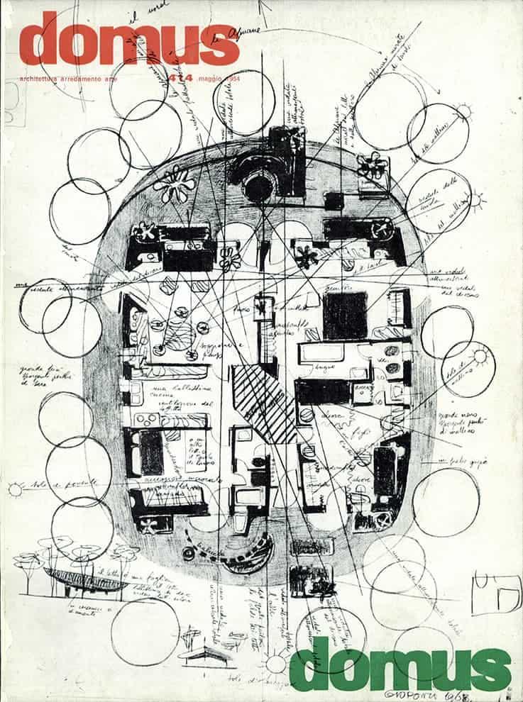 Couverture de domus n° 414 – mai 1964