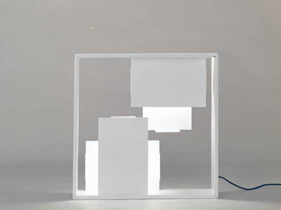 Lampe fato, 1967. fabricant artemide métal. berlin, collection jochum rodgers - ©gio ponti archives, milan