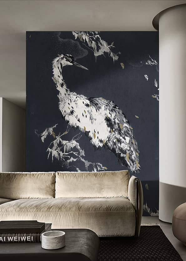 Ardea, papier peint de la collection Contemporary Wallpaper 2019. Design Elisa Vendramin. ©Wall&Decò