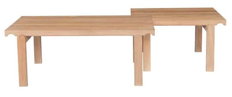 Bancs Muse, en chêne, à assembler. 2 dimensions. Design ECAL:Isabelle Baudraz. ©Tectona