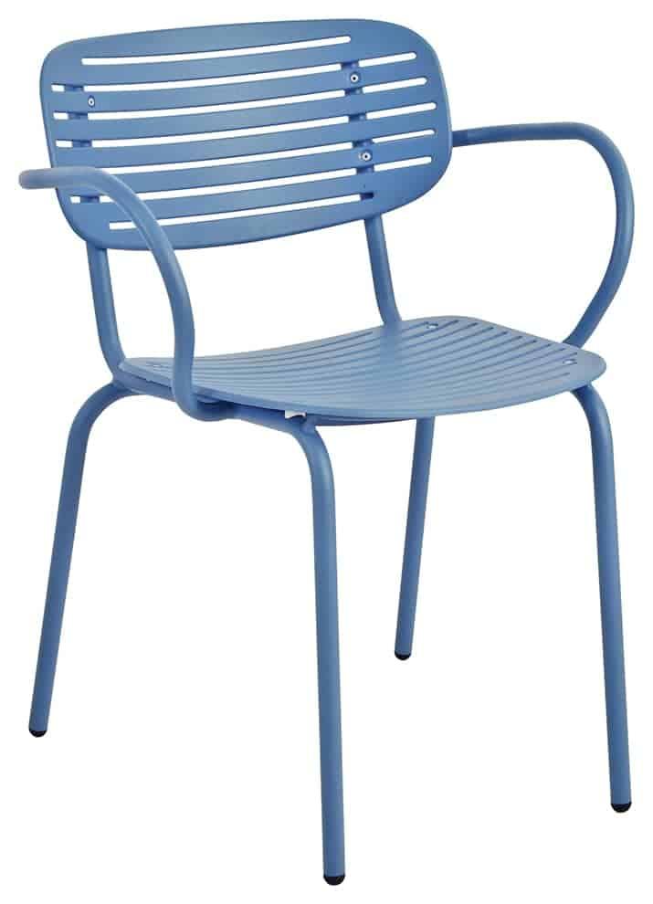 Chaise Poltroncina, en acier tubulaire. 50 x 56 x H 76 cm. Design Florent Coirier. ©Emu