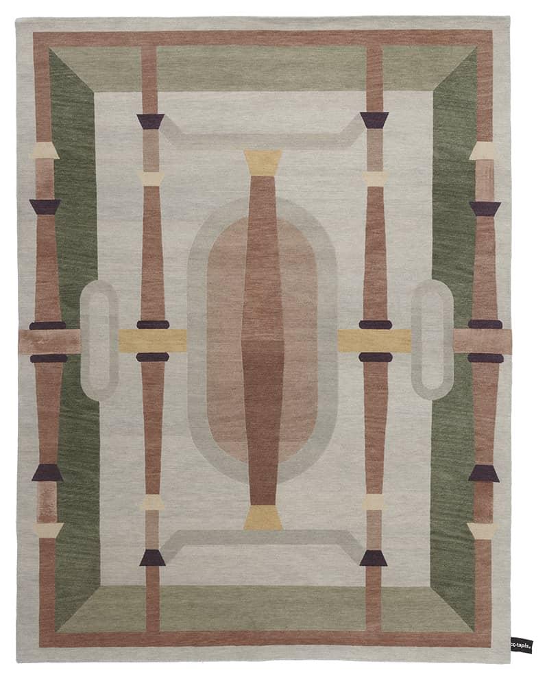 Cinquecento, tapis noué main en laine d'Himalaya et soie. 230 x 300 cm. Modèle Nastagio. Design Studio Klass. ©CC-Tapis