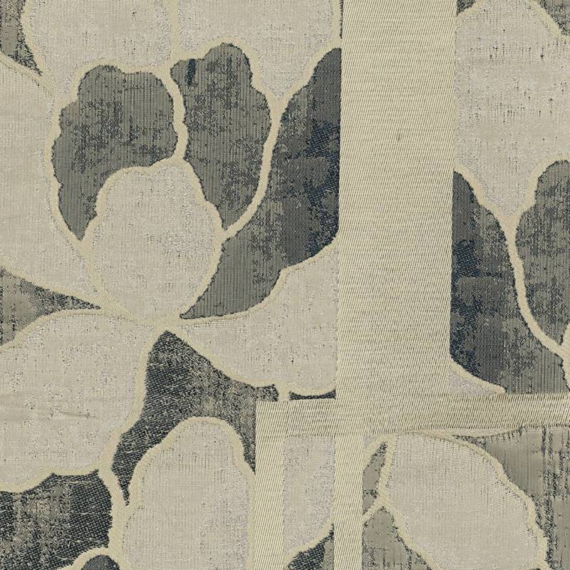 Jacquard Nagano, en acétate, viscose, soie, lin. Laize 140 cm. Siège léger rideaux, coussins. ©Armani Casa