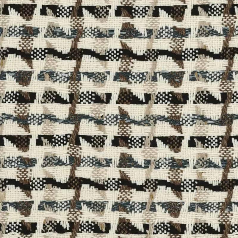 Tissu Alpage, en laine, polyamide, coton et acrylique. Laize 144 cm. Jeté de lit. ©Casamance