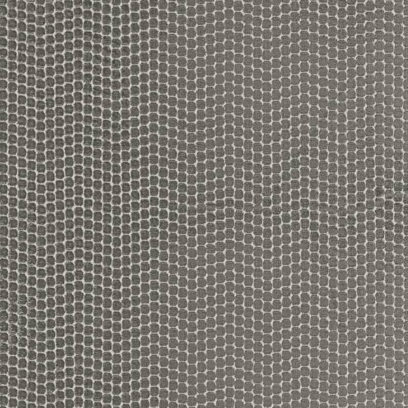 Tissu Pérou, en viscose et polyester. Laize 140 cm. Rideau, siège et accessoire. ©Camengo