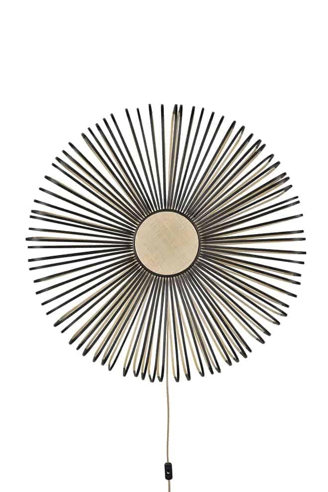 Up, applique de la collection Bamboo, en lames de bambou bicolore. Design Arik Levy. ©Forestier