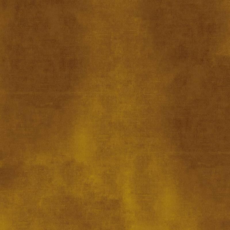 Velours de polyester Manade, coloris Camel. Laize 138 cm. Rideau, siège et coussin. ©Casamance