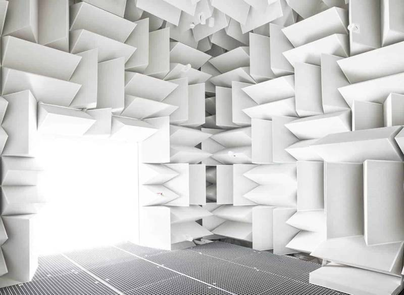 Anechoic chamber, [ISAE], Toulouse, 2018. ©Vincent Fournier