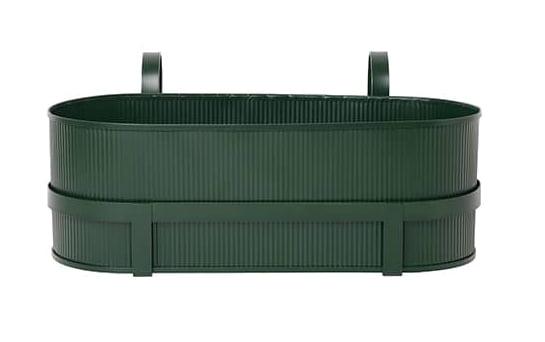 Bau Balcony box, jardinière en acier galvanisé traité. Design Herman Studio. L 45,3 x P 17,8 x H 20 cm. ©Ferm Living