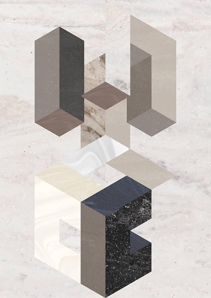 Lignes Concrete, Onyx et Prima pour plans de travail en Corian®, imitant la pierre. ©Dupont Corian®