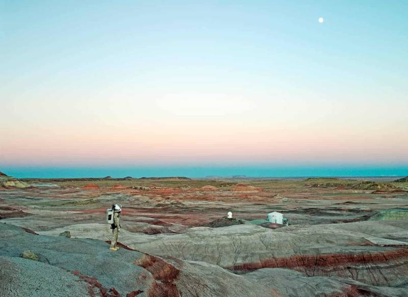 Mars Desert Research Station #11 [MDRS], Mars Society, San Rafael S 64 well, Utah, U.S.A., 2008. ©Vincent Fournier