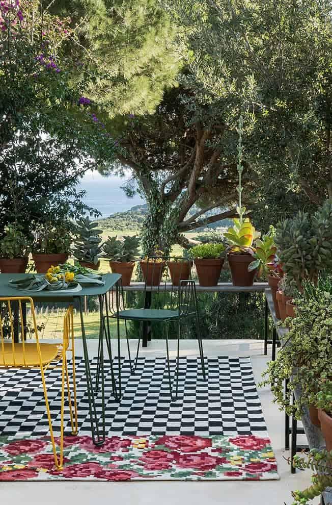 Oaxaca, tapis outdoor, 100 % polyéthylène. 170 x 240 cm ou 200 x 300 cm. ©Nanimarquina