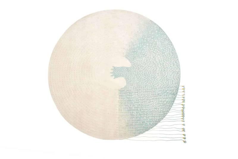 Ouroboros, tapis sur-mesure noué main en laine et soie. Design Faberhama. ©Nodus