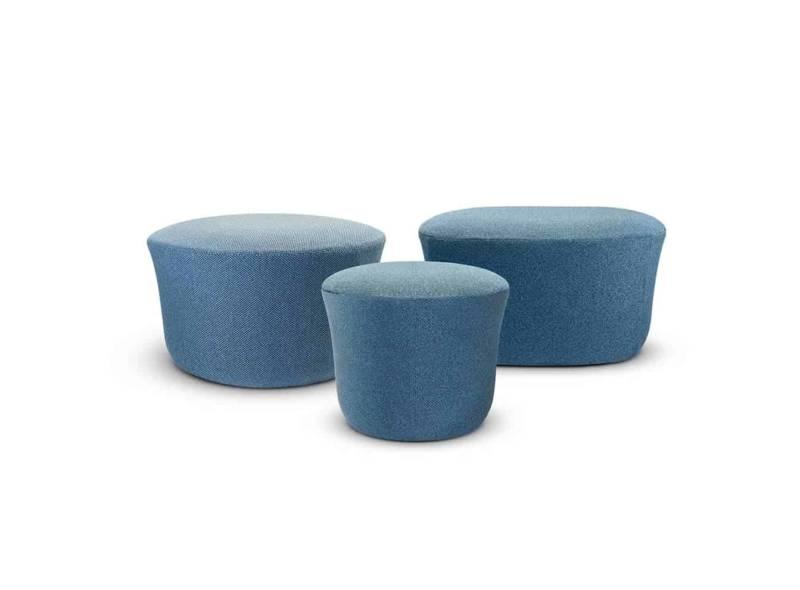 Suave, poufs en polyuréthane. 5 dimensions. Design Marcel Wanders. ©Vondom