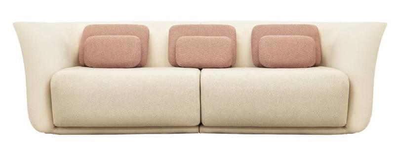 Suave, sofa 2 places en polyuréthane. Design Marcel Wanders. ©Vondom