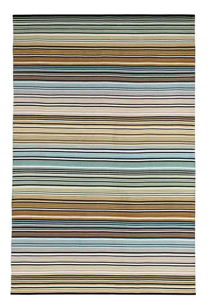 Waipawa, tapis outdoor, 100 % polyester. 75 x 175 cm, 200 x 300 cm ou sur-mesure. ©Missoni Home