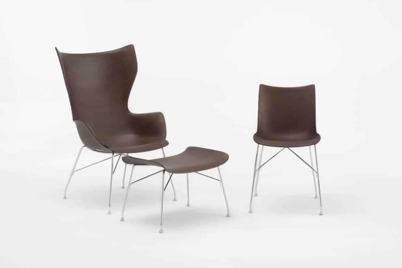 Collection d'assises Smart Wood, utilisant le bois moulé et cintré. Design Philippe Starck. ©Kartell