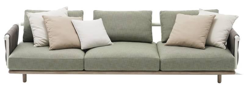 Eden – Sofa combinant le teck blanchi