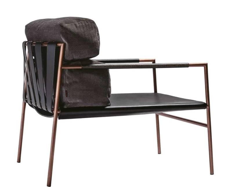 JK Easy Chair – Structure acier inoxydable