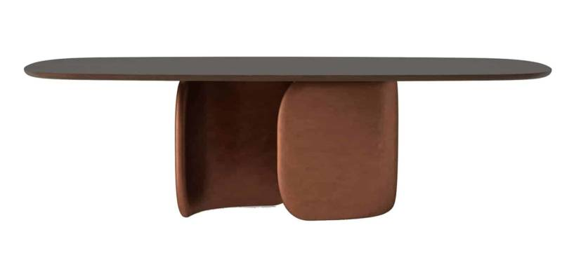 Mellow – Table de repas avec base moulée en polyuréthane compacte