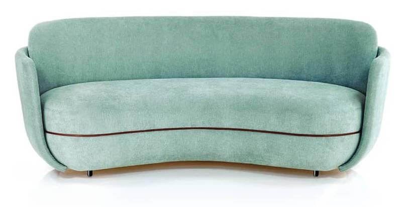 Miles – Sofa structure bois et métal recouverte de tissu