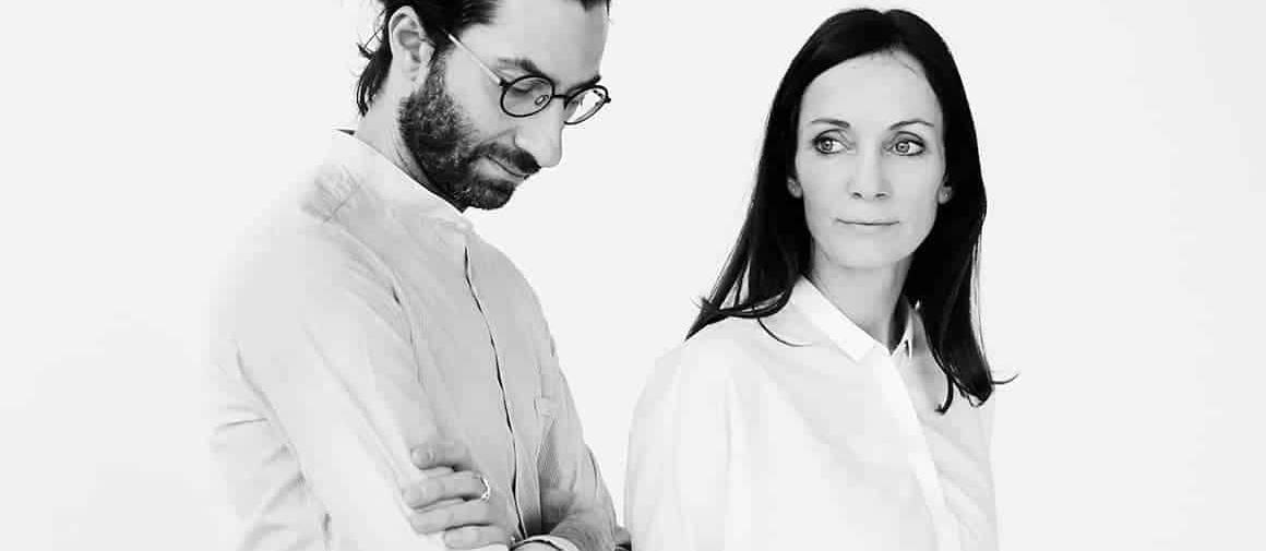 Portrait de Stine Gam et Enrico Fratesi. Studio GamFratesi
