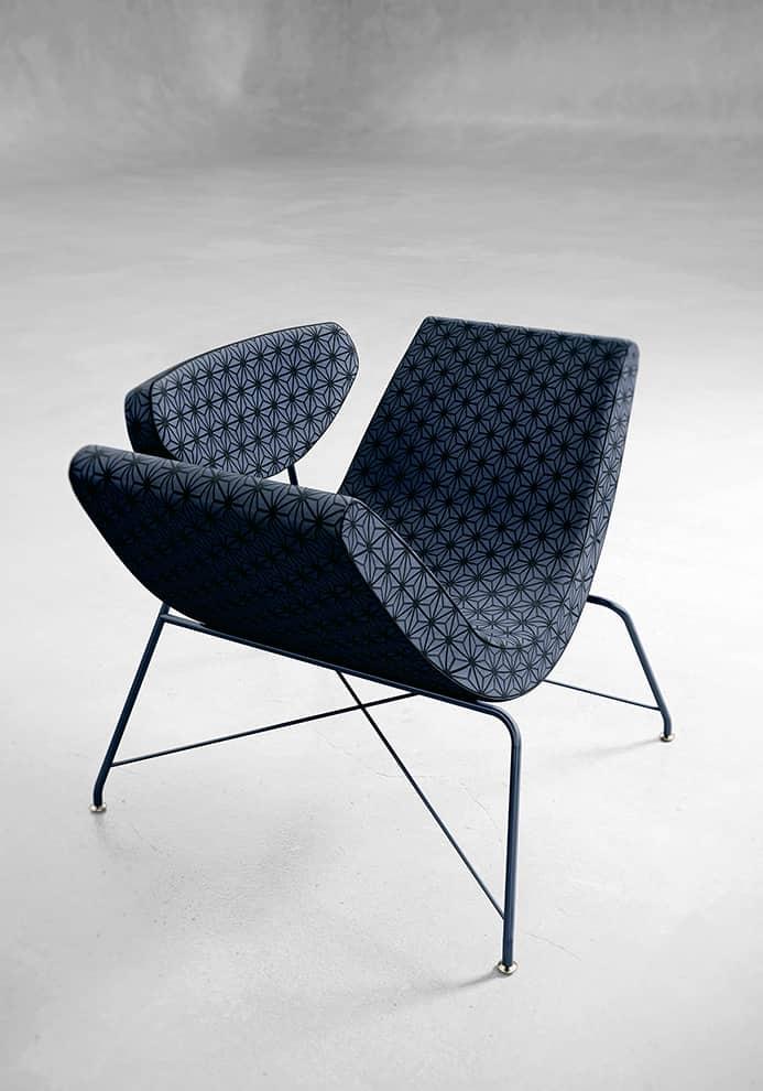 Reversivel – Réédition du fauteuil flexible avec assise pivotante