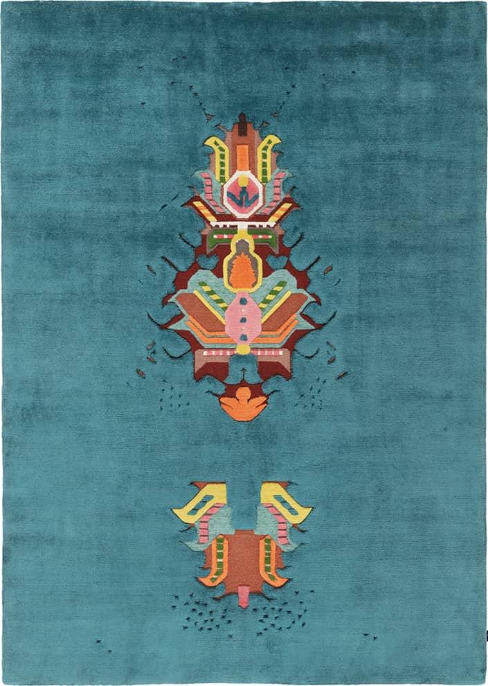 The Mothership - Tapis noué main en laine et soie