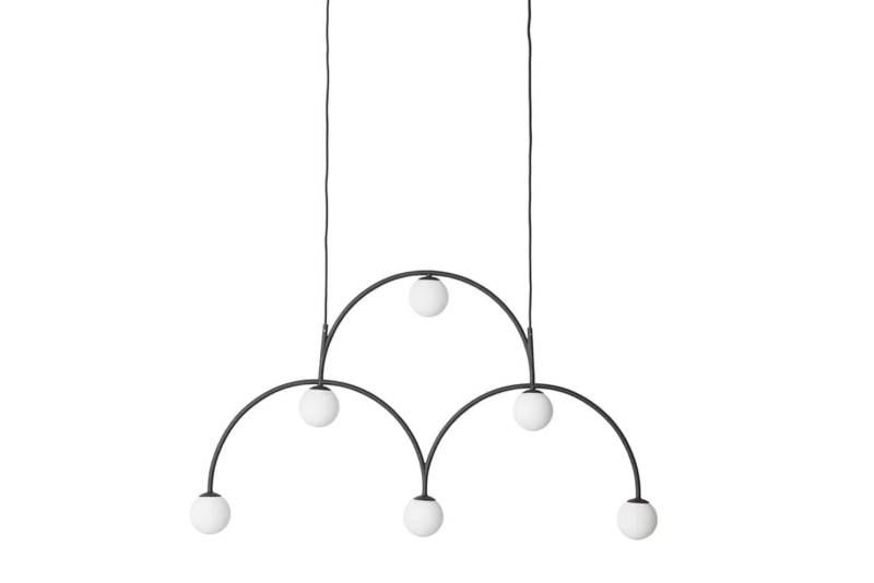 Bounce – Suspension en métal et verre opalin.