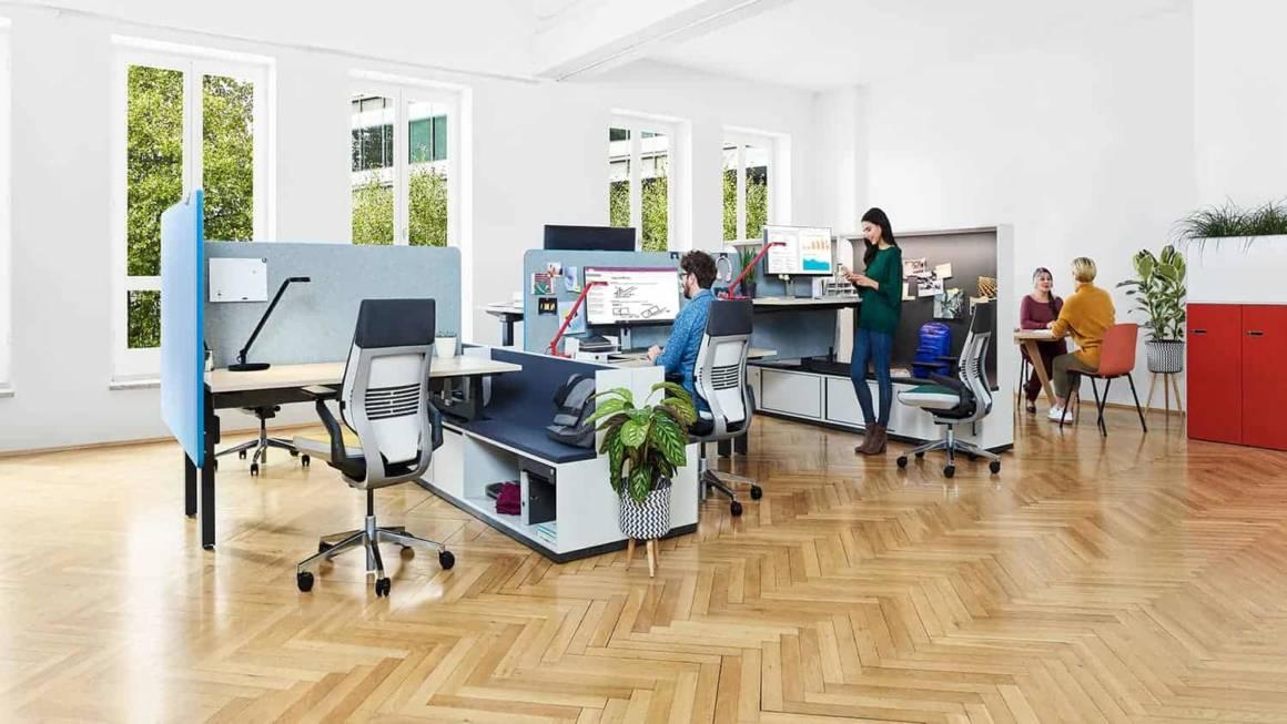 Collection de bureaux et bench Bivi