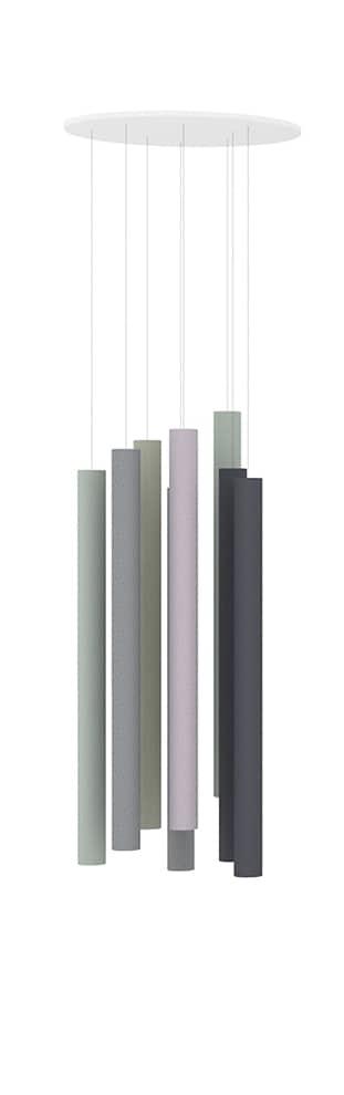 Séparateurs phono-absorbants faits à partir de chutes de textiles