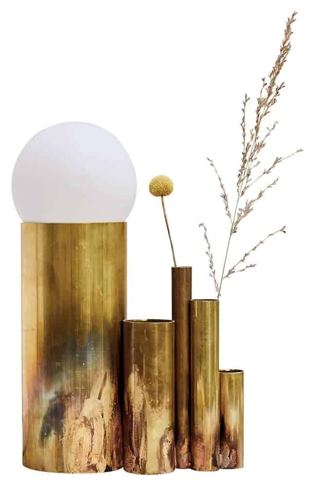 Amalgame – Lampe astrée et soliflores
