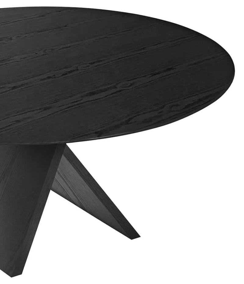 Carlo – Table en contreplaqué de peuplier plaqué en frêne