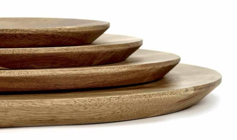 Dunes – Assiettes en bois d'acacia