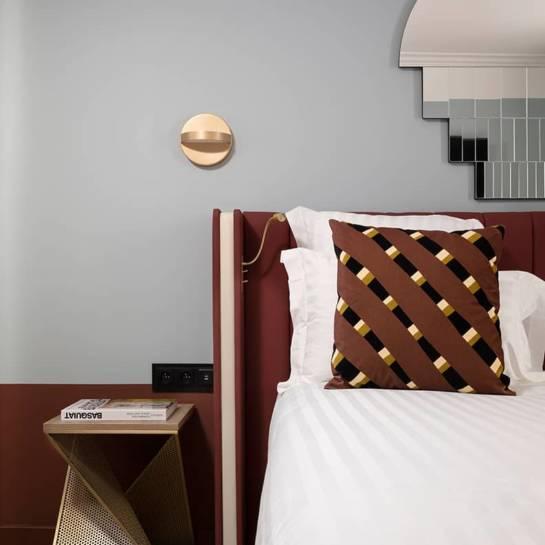 Une chambre de l'hôtel Parisianer (Paris)