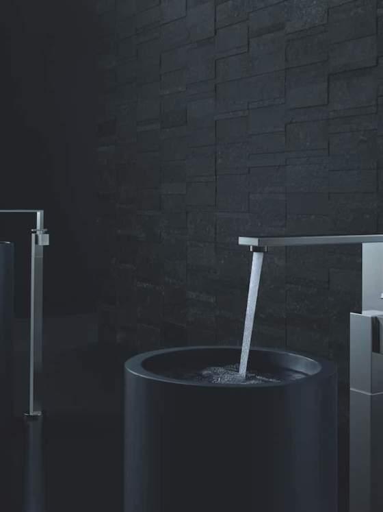 AXOR Edge Washbasin Faucet Freestanding Brushed Chrome