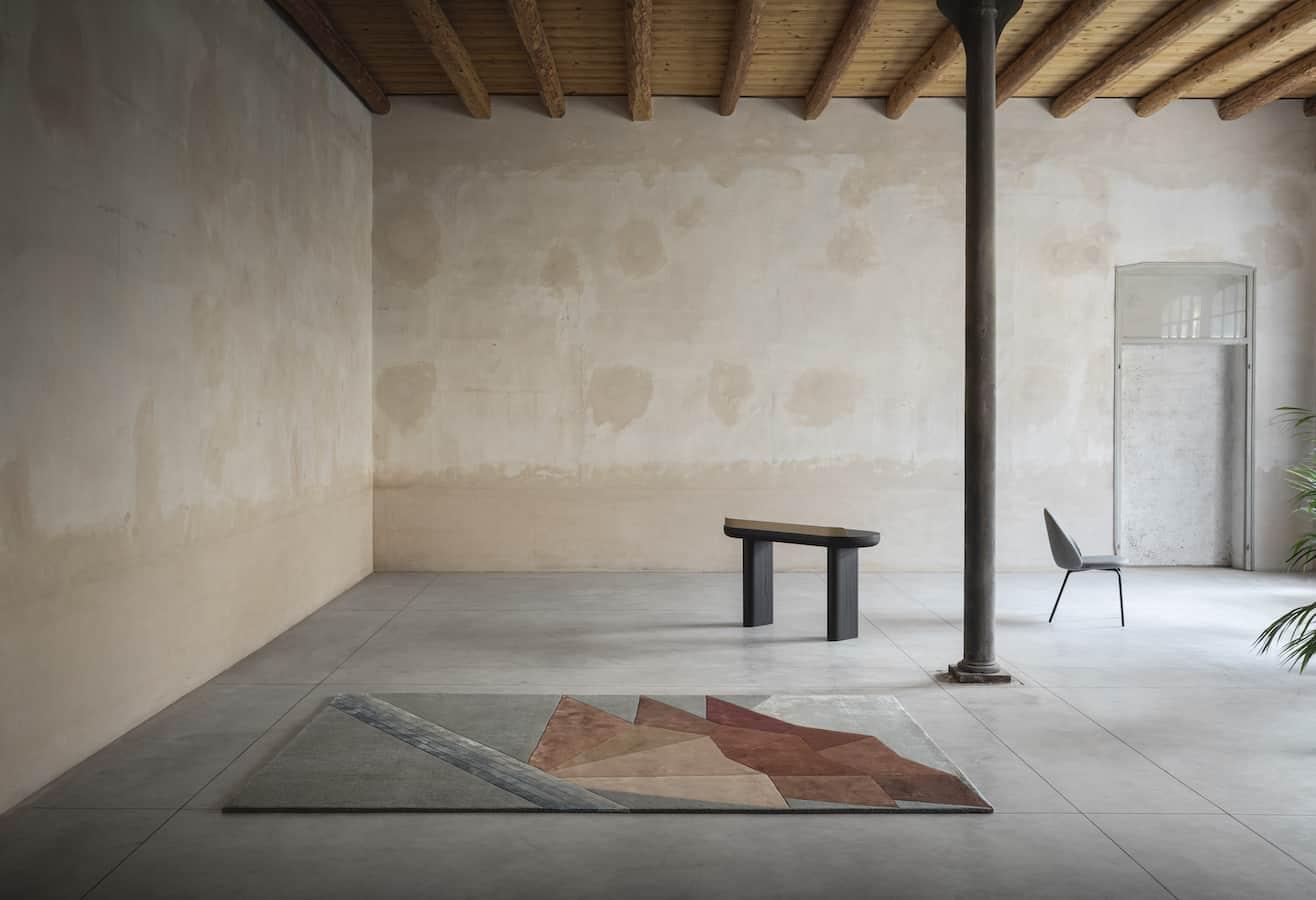 Tapis Biloba – 160 x 240 ou 200 x 300 cm. Design Laura Pozzi Studio. ©Besana Carpet Lab