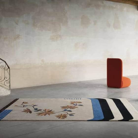 Tapis Kyu - 160 x 285 ou 200 x 355 cm. Design Laura Pozzi Studio. ©Besana Carpet Lab
