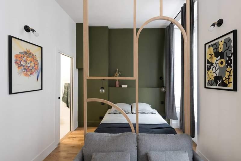 Au sein de 20 m2, l'architecte à intégrer une partie jour et nuit
