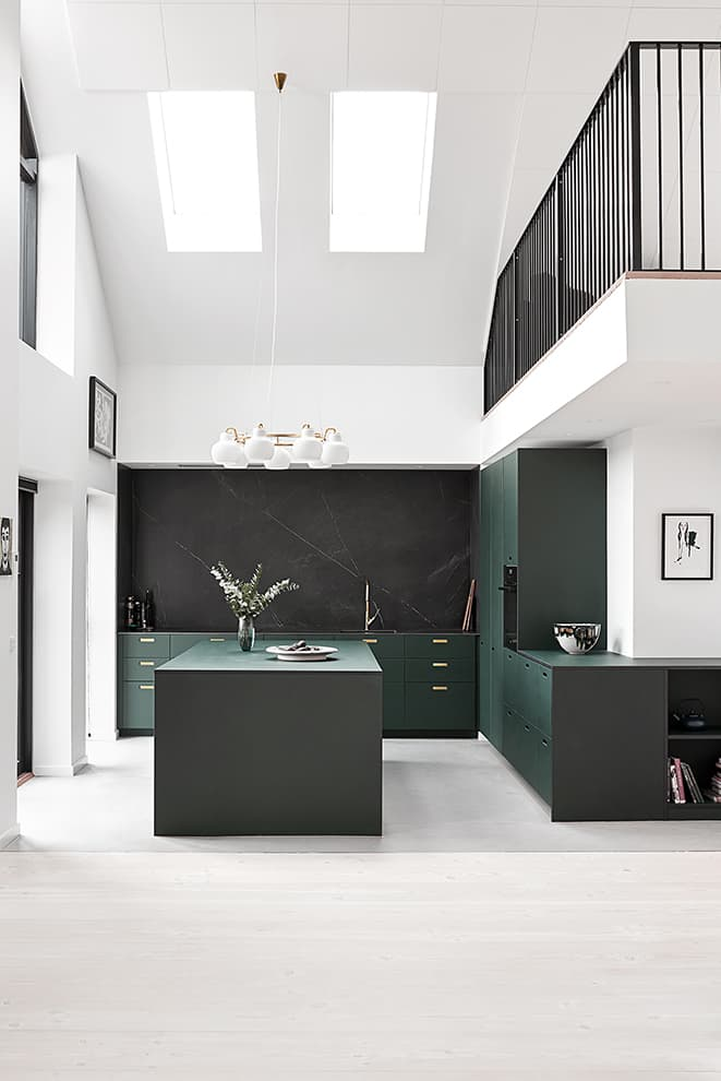 Designer kitchen – collection Linoleum, couleur Conifer – &Schufl